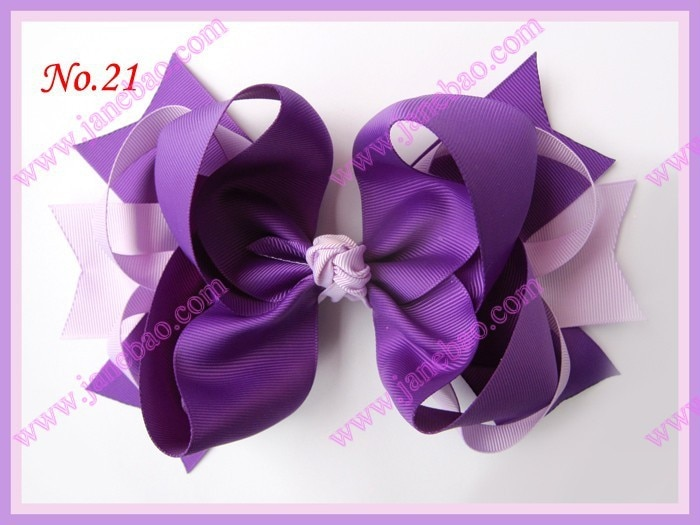 "free shipping fashion 2017 newest  300pcs 8"" big ring hair bows boutique hair bows clip girl hair clips"