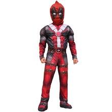 Garçons de luxe Marvel Anti-héros Deadpool enfants Muscle film Halloween carnaval fête Cosplay Costume