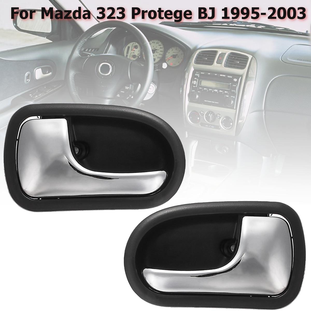 Левая Правая Автомобильная Передняя Задняя хромированная внутренняя дверная ручка для Mazda 323 Protege BJ 1995 1996 1997 1998 1999 2000 2001 2002 2003