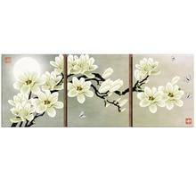 Panno doré   Broderie, peinture florale, point de croix, kits de broderie, point de croix, magnolia 11ct, pour la maison, ensembles de broderie, bricolage
