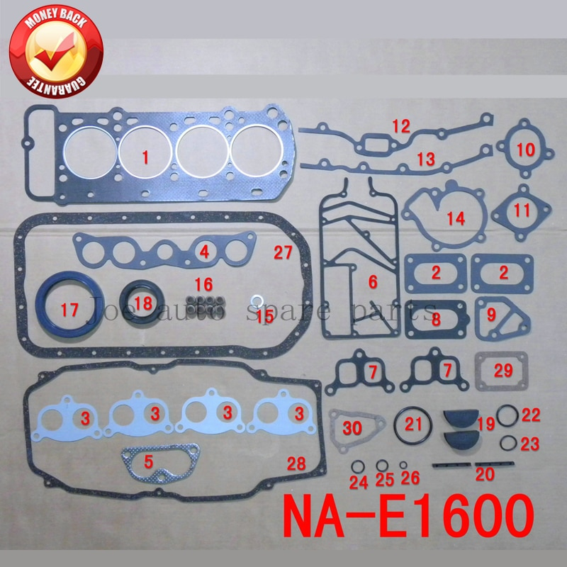 ND kit completo Do Motor Junta Conjunto Completo para MAZDA 626/E1600 1.6L 1586CC 1979-1984 50135000 8170- 99-100