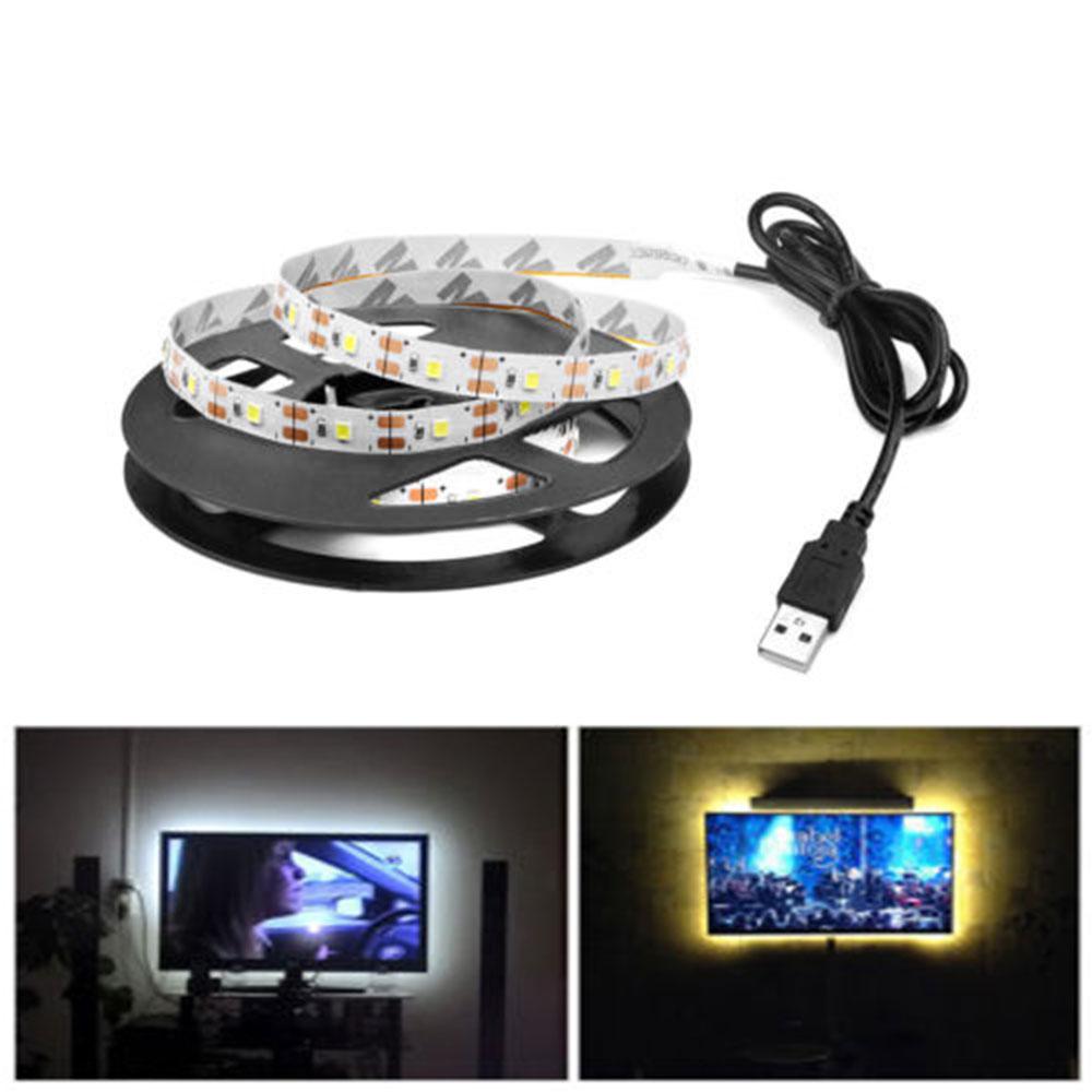 300CM USB LED Light Strip String Tape SMD2835 TV PC Background Decorative
