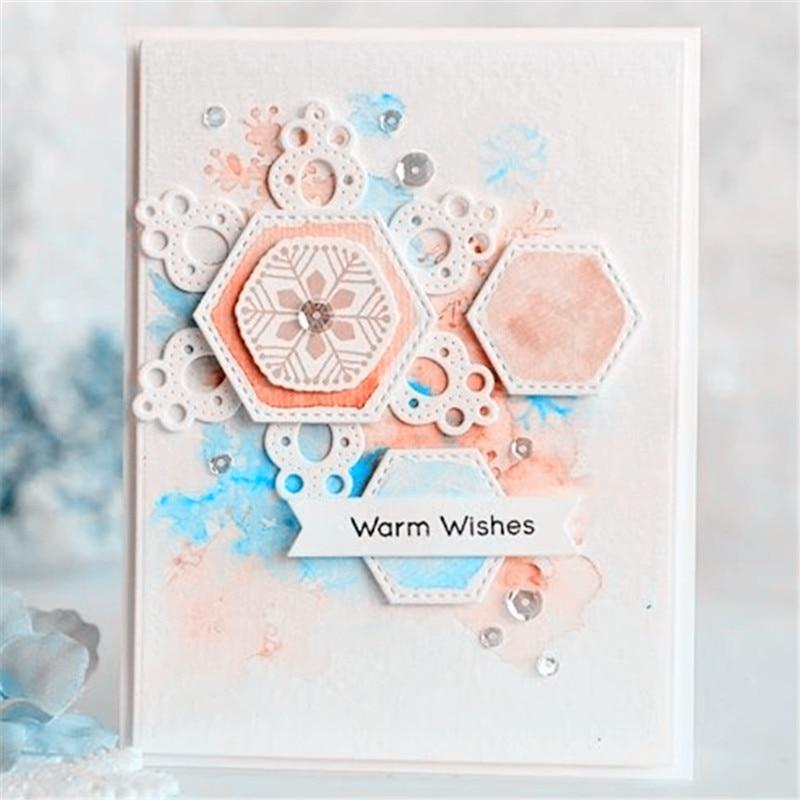 Troqueles hexagonales en espiral, troqueles de corte de Metal para álbum de recortes, carpeta en relieve, traje, decoración de tarjeta de papel artesanal
