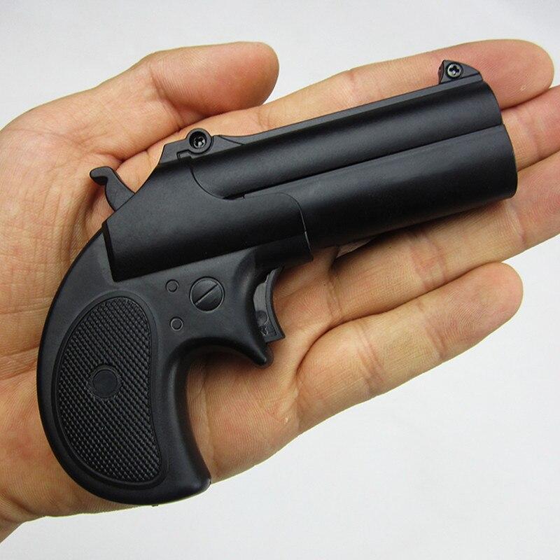 2 uds. Pistolas de juguete al aire libre 16 Mini pistola de plástico de Metal pistola de tiro de bala suave niño regalo juego de aleación CS regalos para niños pistola de juguete Manual