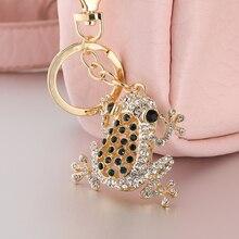 Richesse grenouille vert belle cristal pendentifs à breloque sac à main sac à main clés de voiture porte-clés clé ysk079 cadeau danniversaire à la mode à un ami