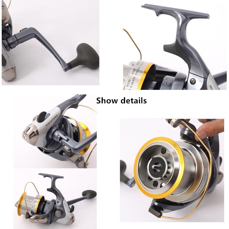 7000/9000 series Metal wheel spinning wheel fishing reel fishing gear distant fishing wheel 10+1 axis carretilha de pesca tool enlarge