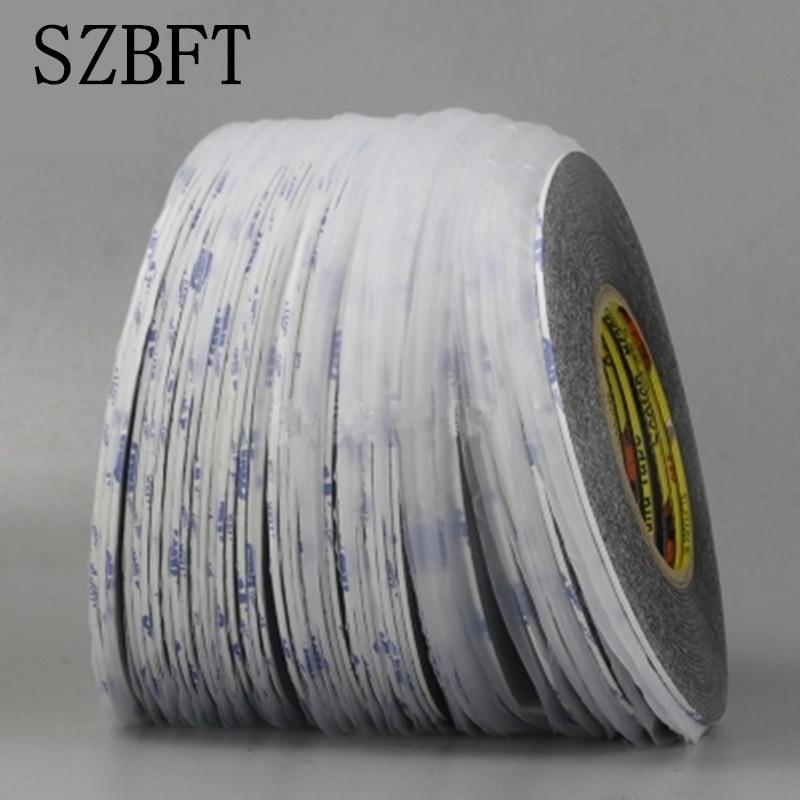 SZBFT 5mm * 50M cinta adhesiva de doble cara 5MM * 50M adhesivo extremadamente fuerte para reparación de teléfonos móviles al por mayor