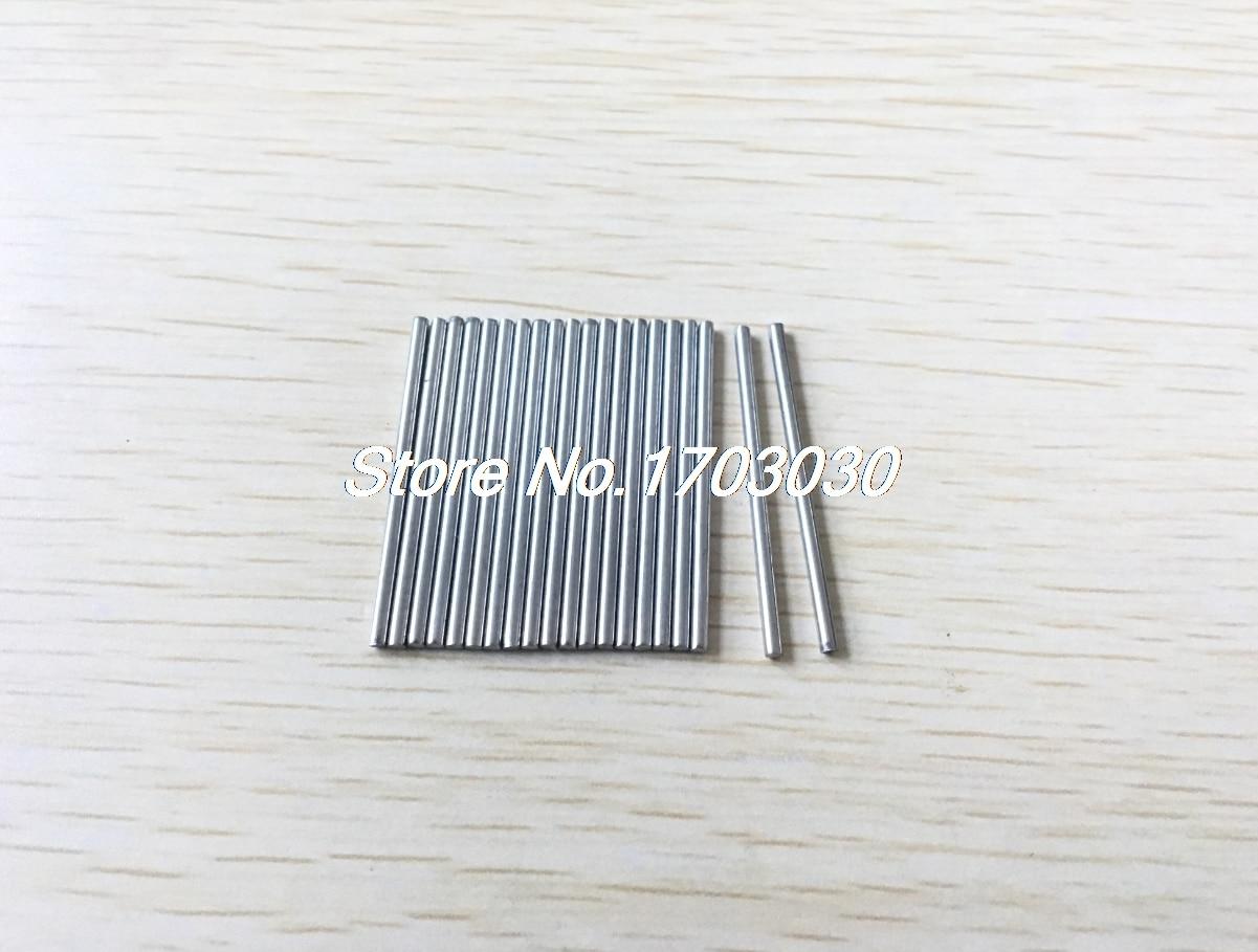 20 piezas barras de eje de varilla redonda de acero inoxidable de 30mm x 2mm para juguetes RC