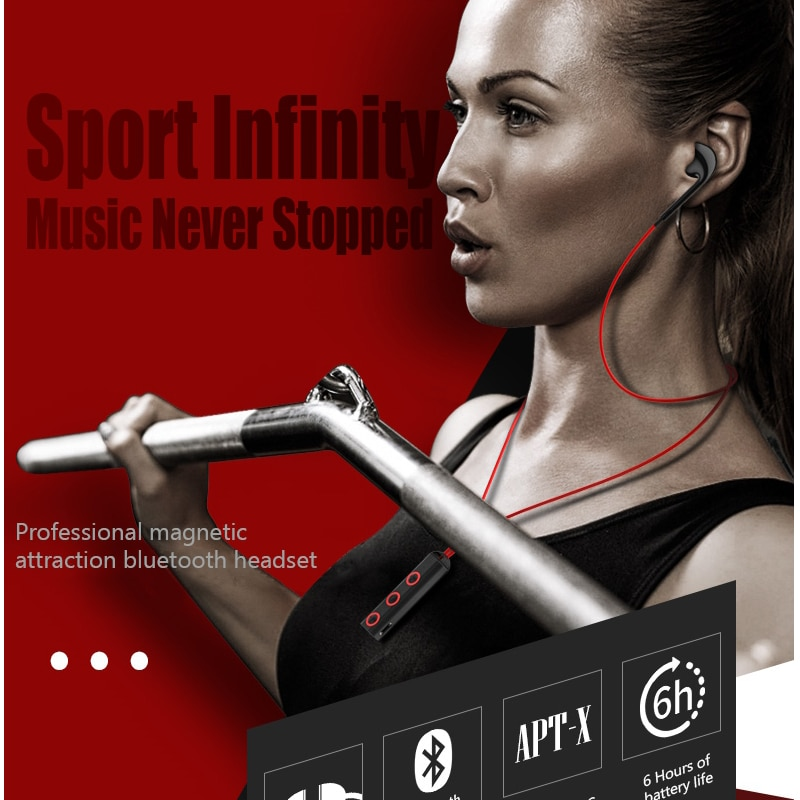 Daono BT313 Bluetooth Headphone Wireless Headset Magnetic Neckband Sport Bluetooth Earphone with Mic for phone iphone xiaomi enlarge