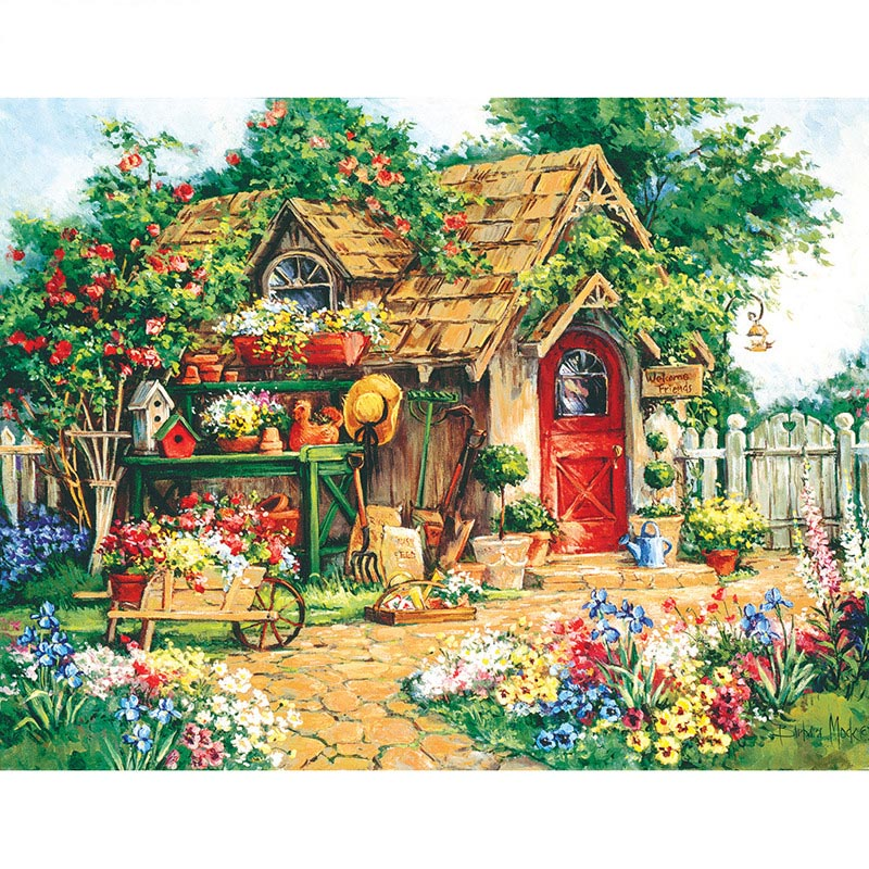Kits de mosaico de paisaje de Casa de jardín de punto de...