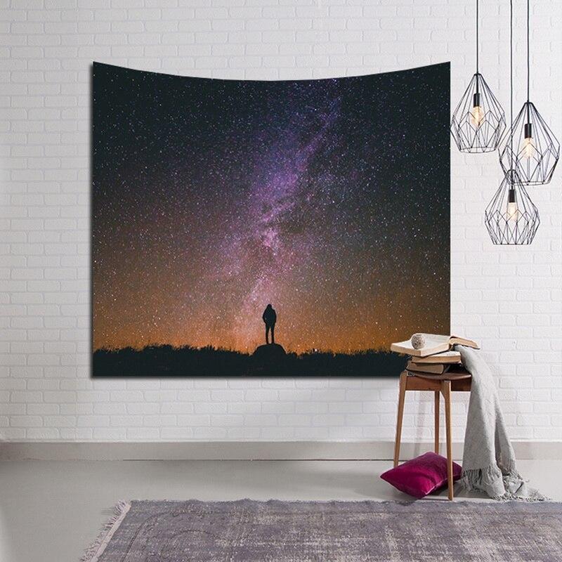 Urijk Universe Starry Sky  Wall Hanging Tapestry Bedding Bedspread Home Decor Bedroom Living Room Beach Towel Throw Mat