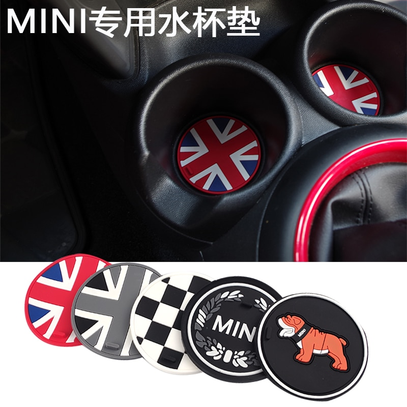 Jack Union Gel de sílice antideslizante taza de coche posavasos para Mini Cooper One + S Clubman Countryman R55 R56 R60 R61 F56 F55 F60