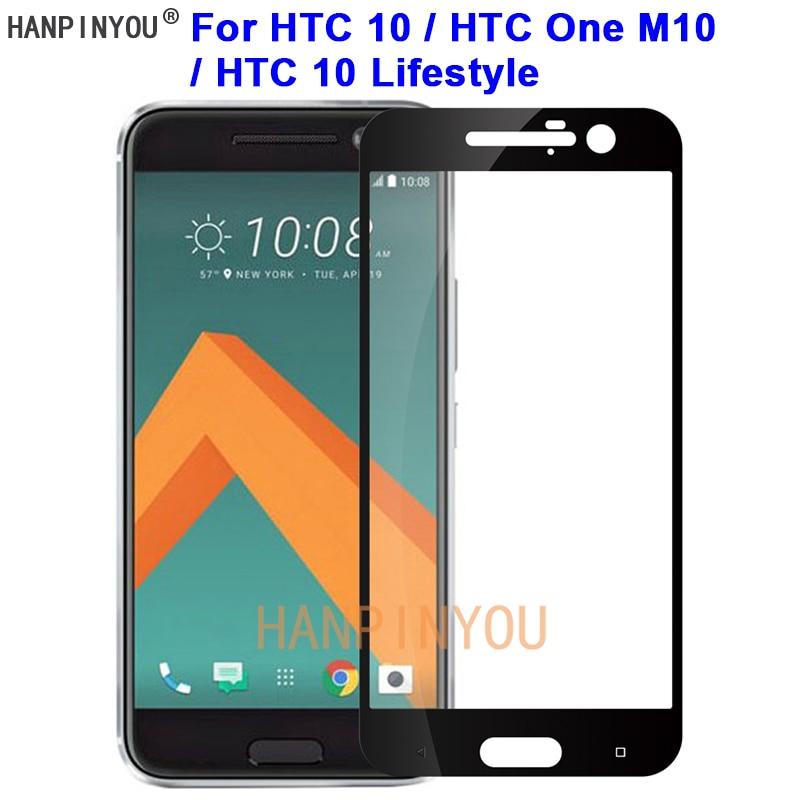 Para HTC 10/One M10/10 Lifestyle nuevo 9H dureza 2.5D cubierta completa templado protector de pantalla de película de vidrio protector