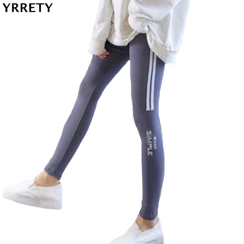 YRRETY Women Lady Activewear Black Legging Spring Summer Light Grey Pant Autumn Letter Mid Waist Leggins Slim Leggings Women