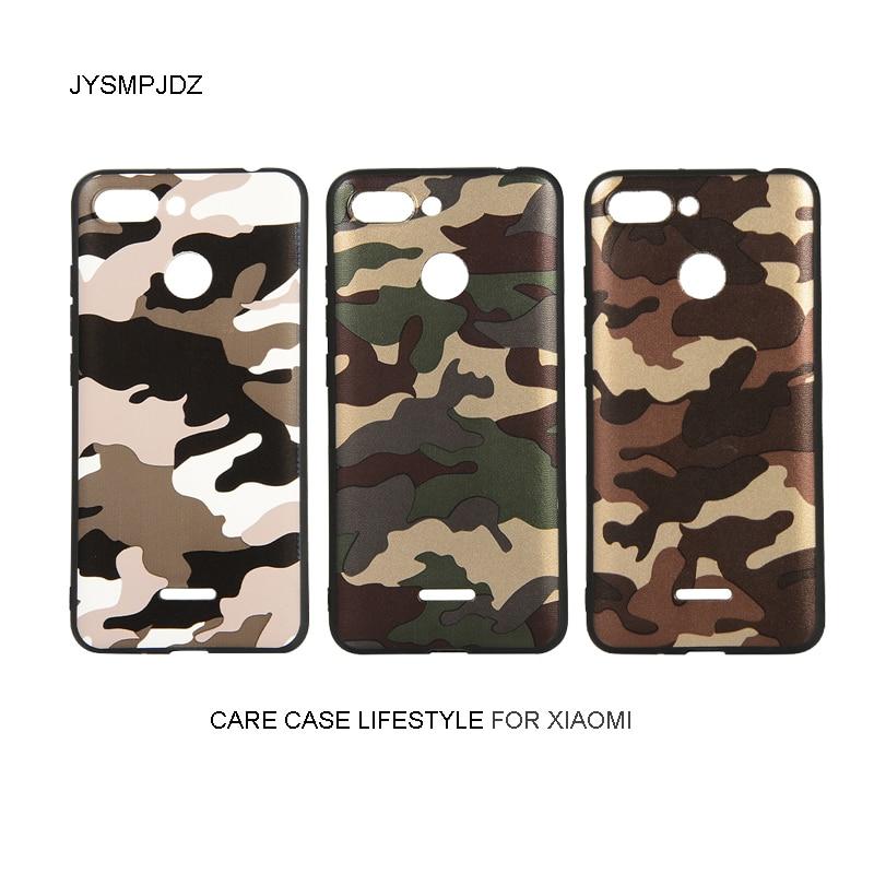Para Xiaomi Redmi 6 caso De Teléfono M1804C3DG M1804C3DT M1804C3DH M1804C3DC M1804C3DE para Xiaomi Redmi 6 camuflaje militar cubierta