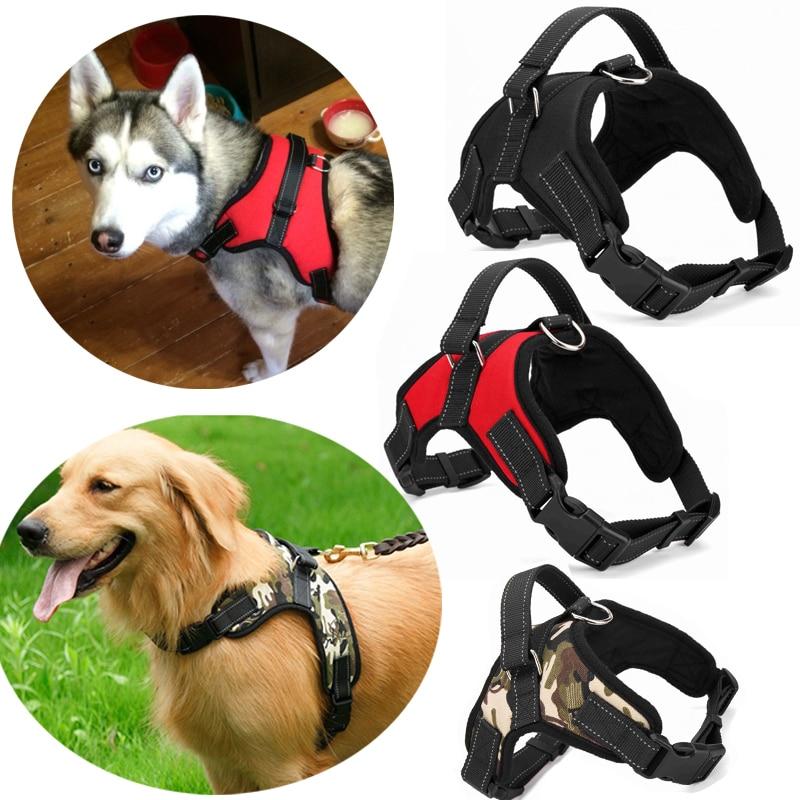 4 Colors Pet Large Dog Harness S/M/L/XL/XXL Soft Adjustable Harness Pet Walk Out Hand Strap Vest Collar For pet Dog toys