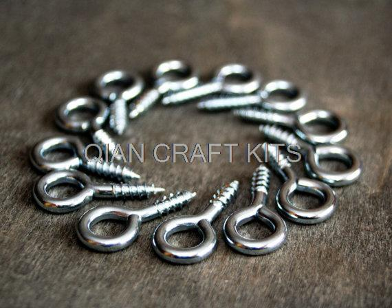 4000pcs mix size Eye HOOK  Craft supply Silver finish hook, Key hook, Screw Bail, Wall hanging, Screw Hook Eye pin Eyepin