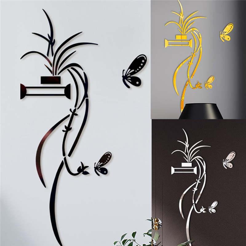 100X33CM DIY Flower Shape Acrylic Wall Sticker Modern Breath stickers  Home Room DIY Decor Gifts Non-toxic environmen 19apr25