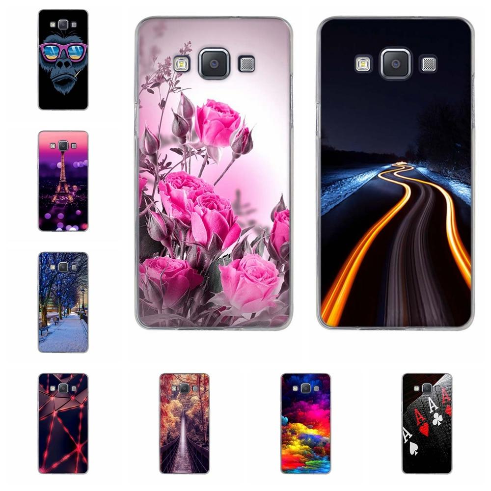 Funda de TPU para Samsung Galaxy A5, funda para Samsung Galaxy A5, A500F, A500FU, A500M, árboles de cubierta estampados para Samsung A5, A500Y, A500K