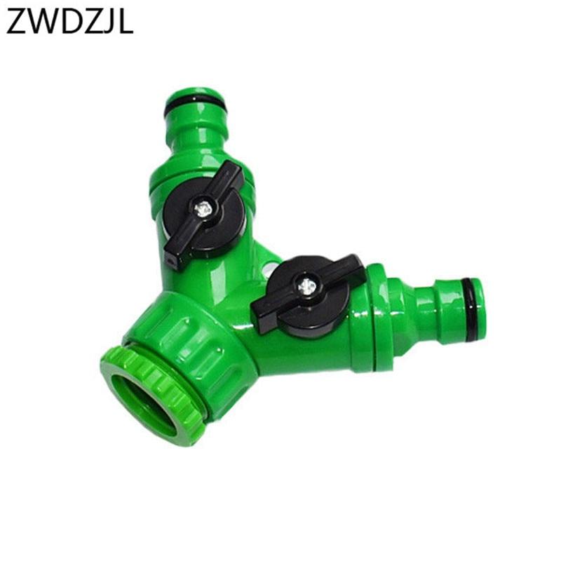 Kran ogrodowy 2 way kranu w kuchni Y złącze węża ogrodowego 2 Way adapter złącza wysokiej jakości materiałów ABS 1 sztuk
