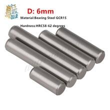 50pcs/lot  M6*6 8 9 10 12 14 15 16 18 20 22 24 25 28 30 34  Bearing Steel Cylindrical Pins - Dowel Pins-Needle-Positioning pin