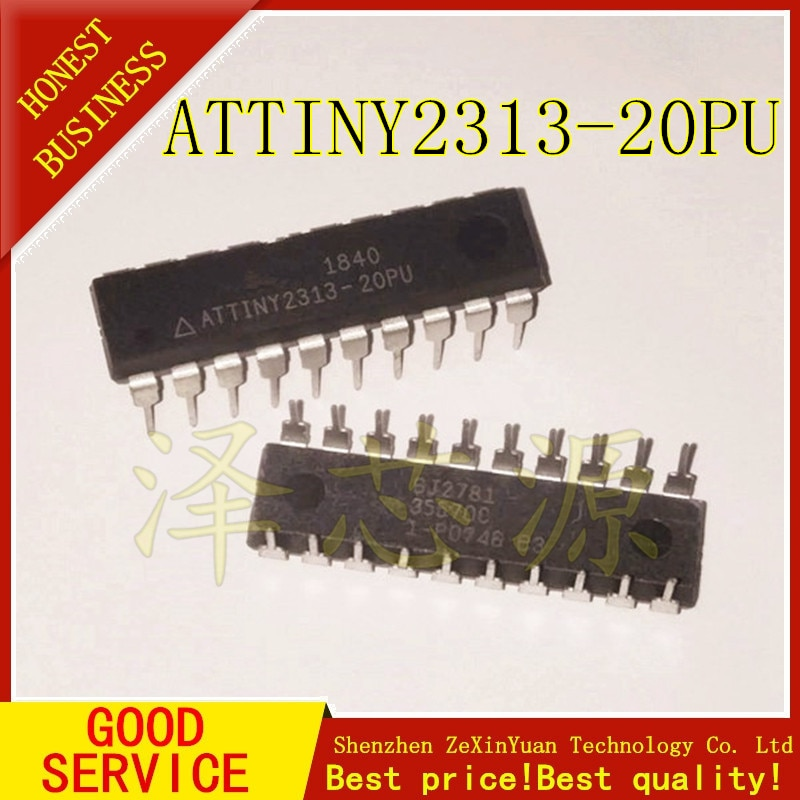 20 шт./лот ATTINY2313-20PU чип ATTINY2313 DIP20 MCU AVR IC