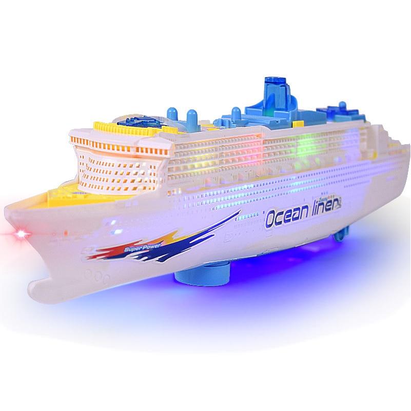 50cm Plastic Super Ocean Liner Ship Model Electric Flash Light Sound Toys Boat Model Toys for Kids Gift plastic crimewave sound plastic crimewave sound no wonderland