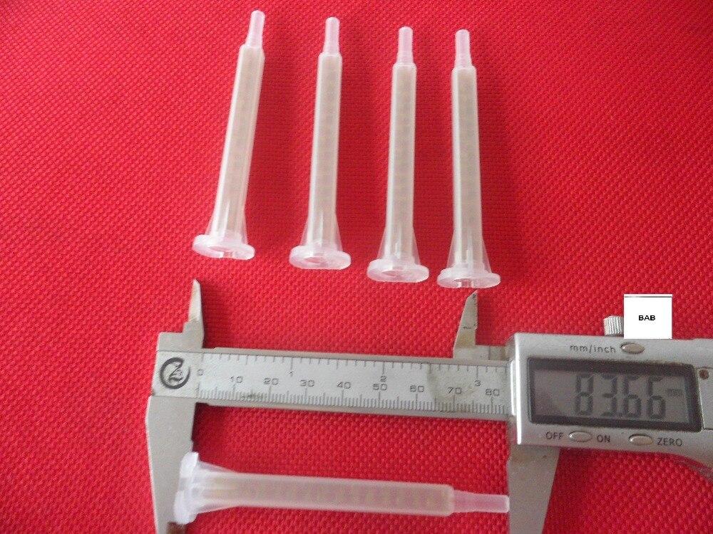 50 piezas mezclador estático de resina 5,3-16/F6-16 boquillas mezcladoras para Duo Pack Epoxies bayoneta un cuadrado dorado