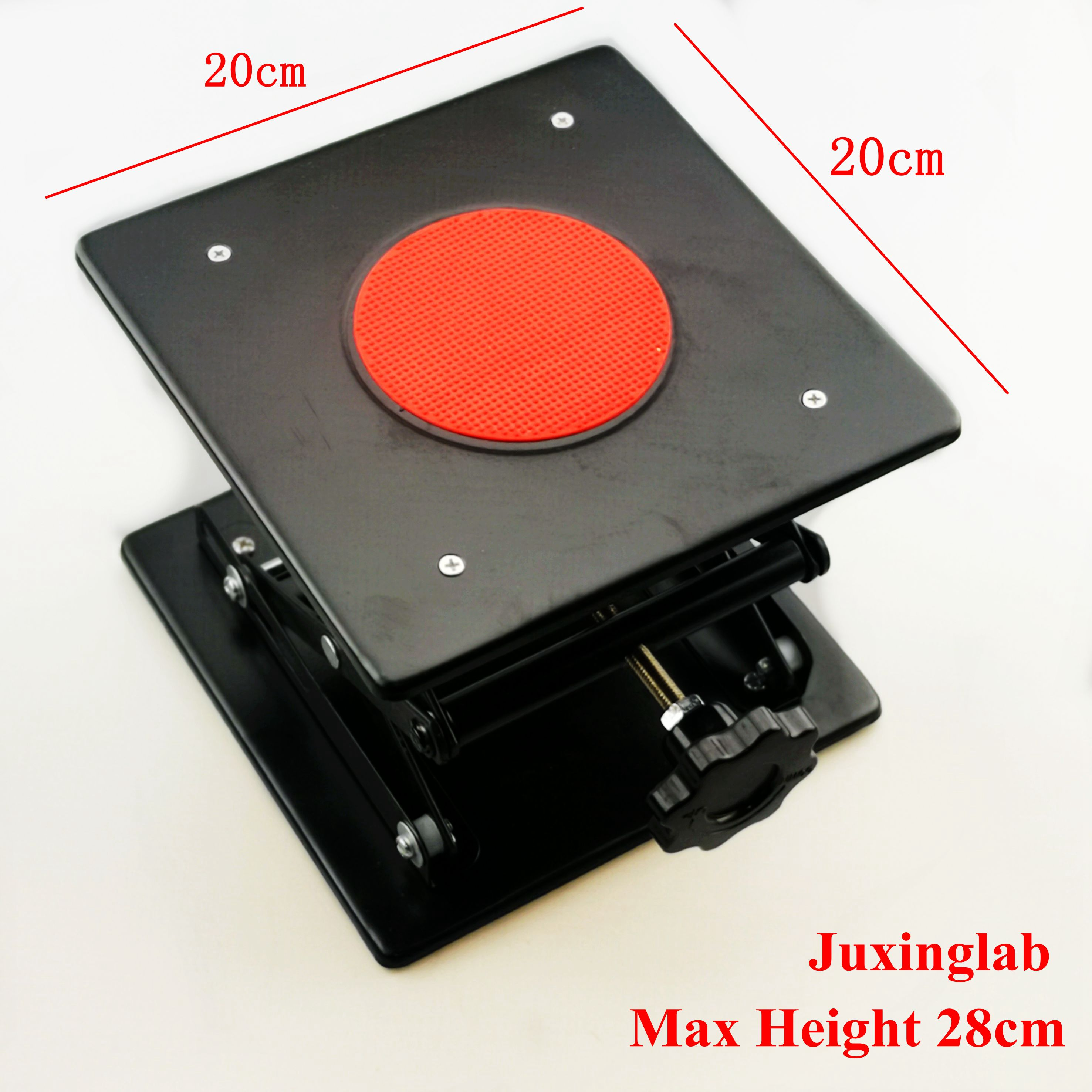 Lab Jack Laboratory Support Jacks black color 200x200x280mm Steel Painting Lifting Table Raising Platform 8''inch