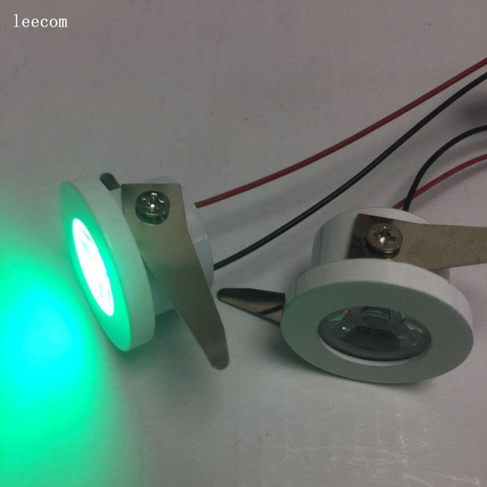 10pcs/lot diameter 30mm Led Cabinet GREEN mini Spot light  1W Include Led Driver AC85-265V 30mm*30mm Mini downlight