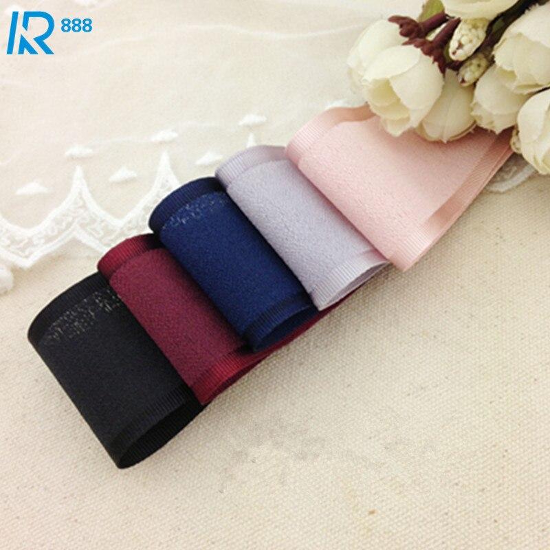 40mm/4 cm ancho grosgrain lateral grueso hilo cintas DIY niñas bowknot accesorios cinta hecha a mano cinta acanalada 5 yardas/lote