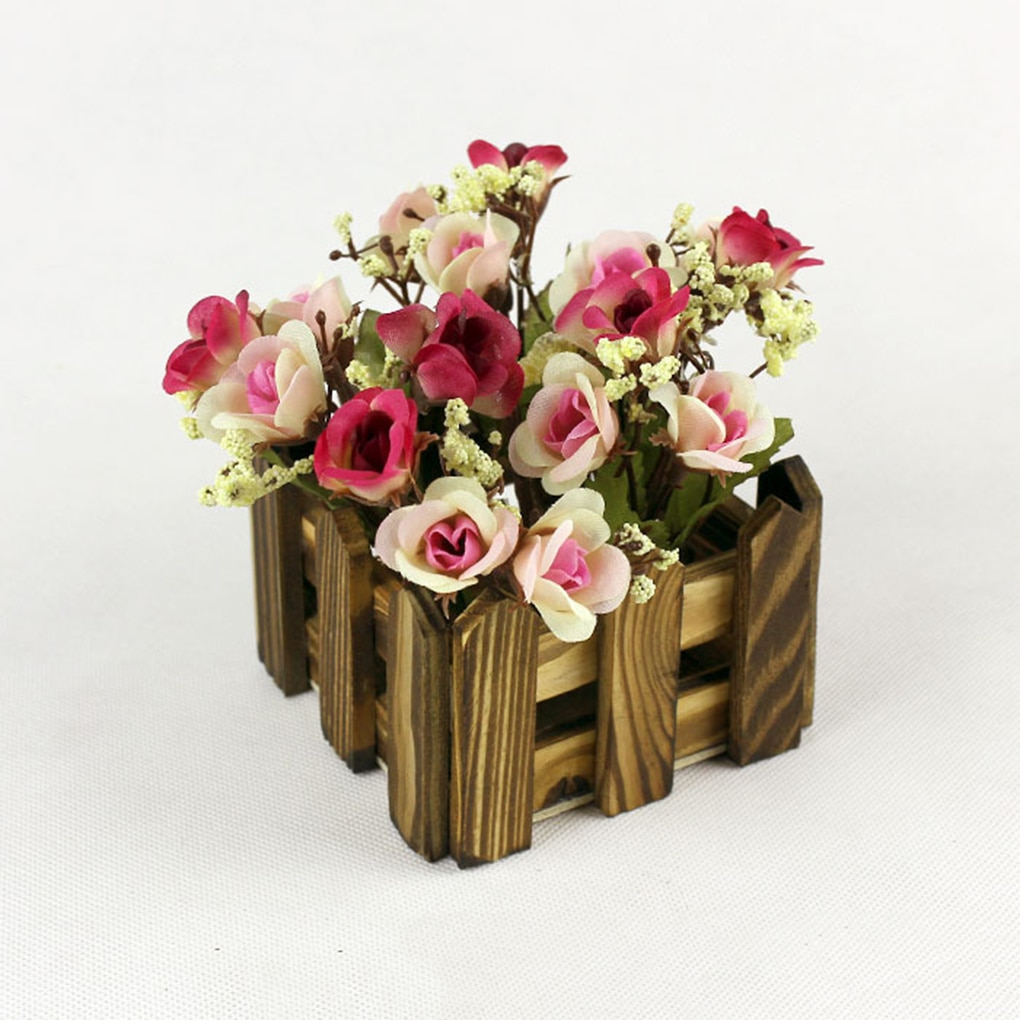 Multi-estilo de madera flor planta valla Picket almacenamiento titular Rack jardín flor Stand decoración del hogar