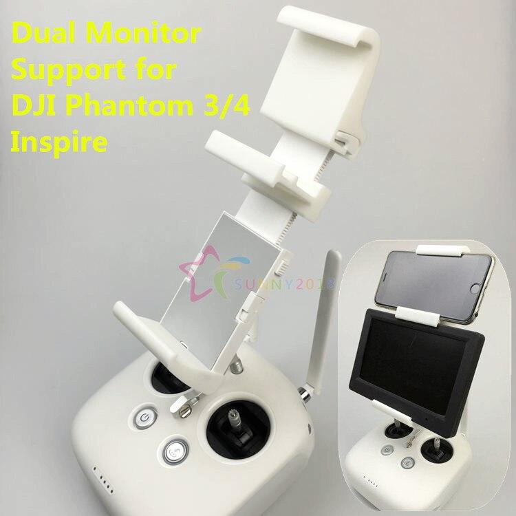 Soporte para Monitor y teléfono móvil con impresión 3D de 7 pulgadas HDMI soporte de pantalla doble soporte de Monitor para DJI Phantom 4 3/Inspire 1