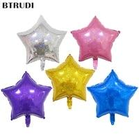 btrudi 2pc laser five pointed star aluminum balloon 18 inch multicolor laser stars party wedding decoration kitchen accessories