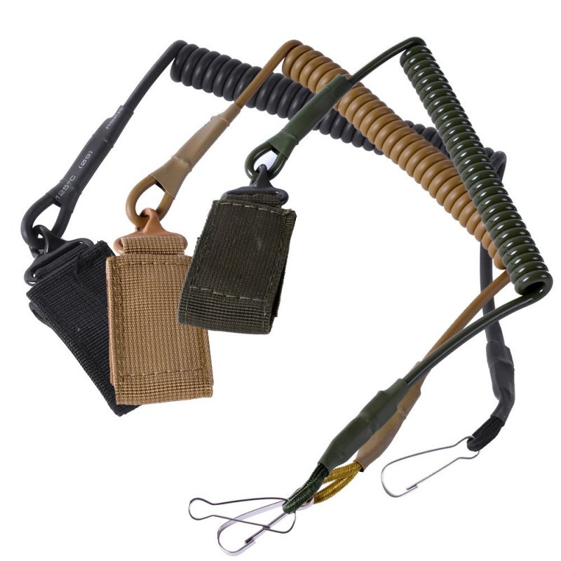 Airsoft militar táctico de un solo punto pistola Cordón de primavera Sling tiro rápido caza Correa ejército combate equipo