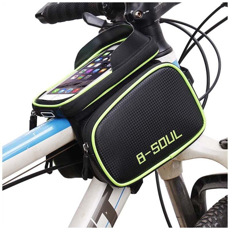 Tubo de bicicleta impermeable en la bolsa del marco bolsa de ciclismo pantalla táctil soporte de teléfono bolsa de sillín de bicicleta para accesorios de bicicleta