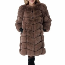 Lisa Colly Women Winter Import Long Sleeve Fur Coats Jackets Women Thick Faux Fur Coat  Faux Fox For