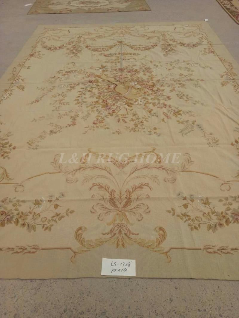 Envío Gratis, alfombras de punto de aguja cosidas a mano de 10x14 y 10 K, Nueva Zelanda lana de alfombras 100% hechas a mano, alfombras de área anudada a mano