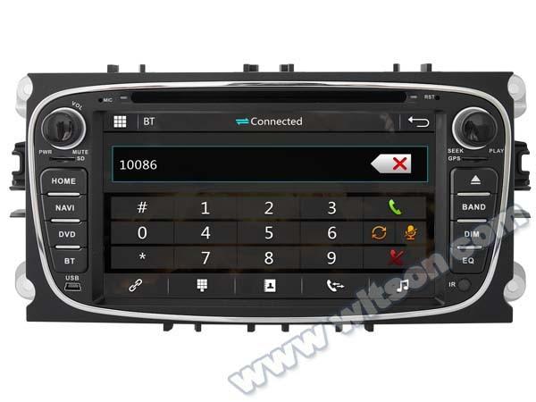 DVD especial para coche de 7 pulgadas para Ford s-max 2008-2011 y Mondeo 2007-2011 y Galaxy 2011-2012 con sistema de supervisión de presión de neumáticos compatible con