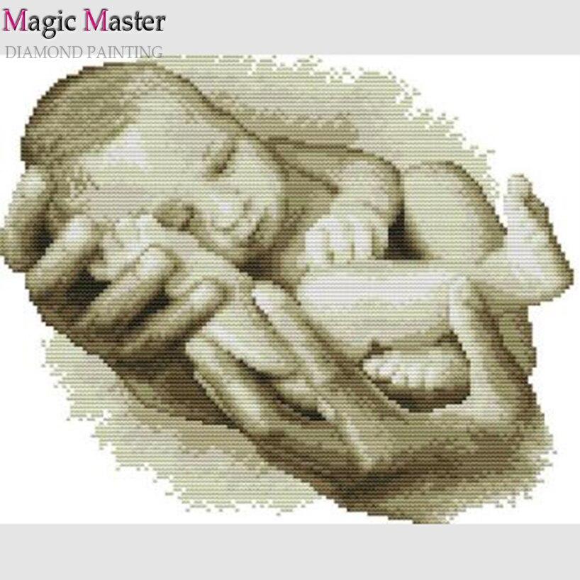 5D DYI Diamond Painting sleeping baby ross Stitch Diamond Embroidery Diamond Mosaic Picture Decoration Gift
