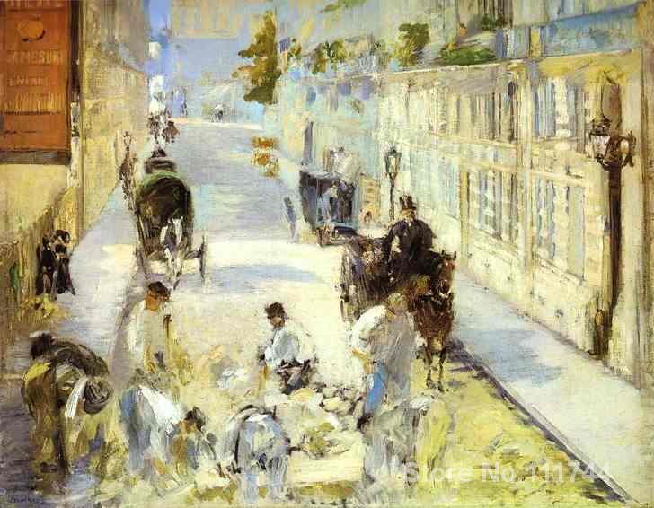Arte regalo The road menders calle de Berne Edouard Manet pinturas al óleo sobre lienzo hecho a mano de alta calidad