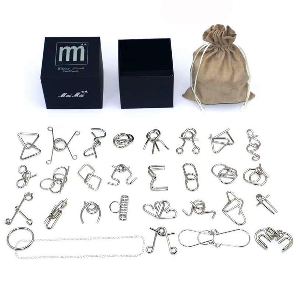 IQ Montessori de alambre de Metal rompecabezas mente rompecabezas magia de juegos de rompecabezas de juguete para niños adultos niños IQ rompecabezas