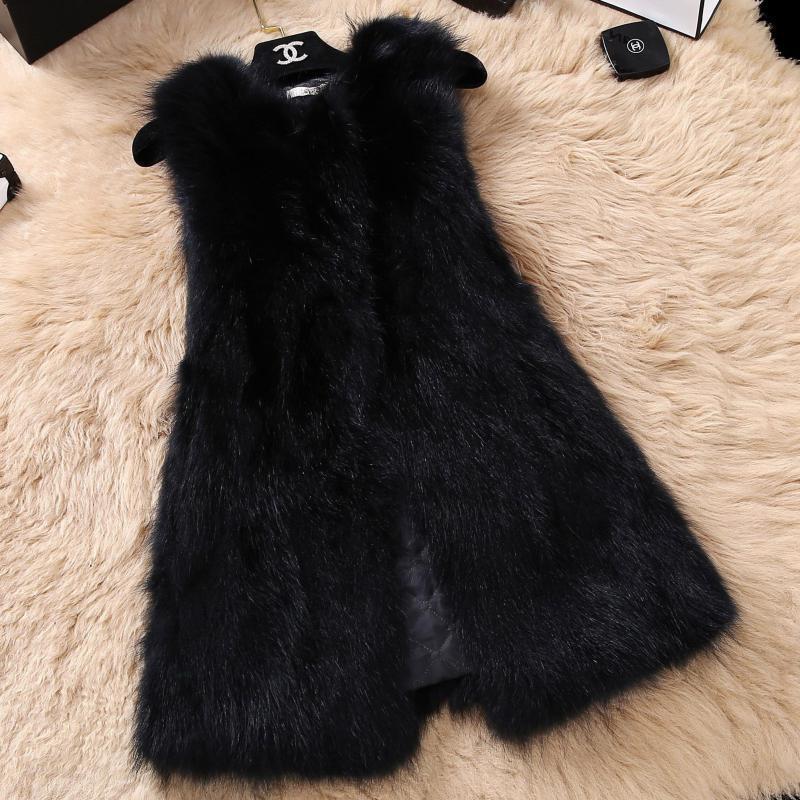 الجديد الراكون الفراء سترة سترة المرأة مقطع طويل من الفراء والجلود الخريف والشتاء النسخة الكورية من نحيل واحد.