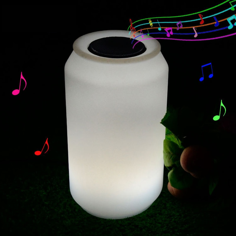 Outdoor waterproof decoration LED night lights usb rechargeable RGB bluetooth speaker table lamp with 24 Keys Remote Control enlarge