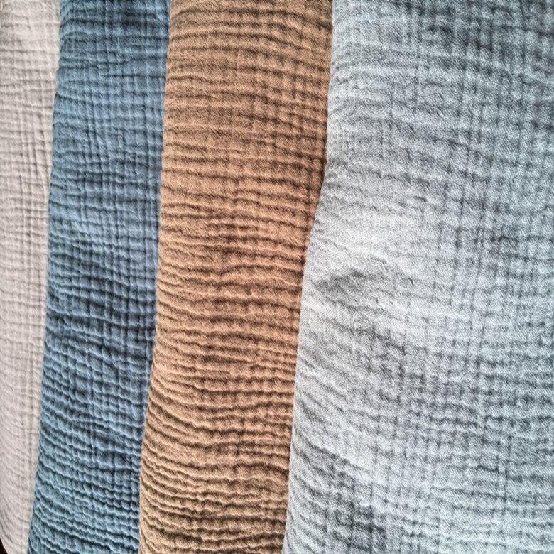 Cobertor de Costura Natural Algodão Duplo Gaze Tecido Macio 140 cm 55 Width Largura 125 Gsm Bebê 300 m Pequeno Atacado Cd02 100%