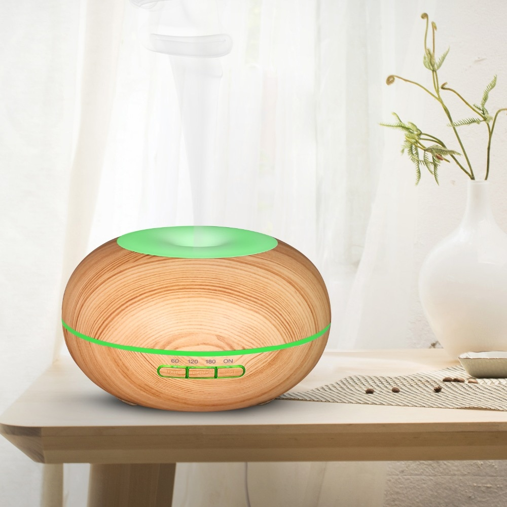 1200ml large capacity essential oil diffuser household mist maker ultrasonic humidifier dc24v aroma oil diffuser night light 300ML ultrasonic aroma diffuser 7 color night light essential oil air humidifier Mist Maker Wood grain Electric Aroma Diffuser