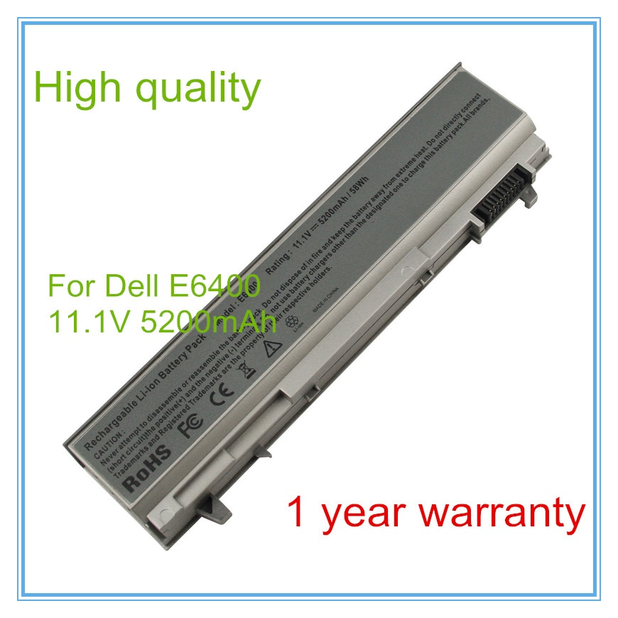 5200MAH 6CELLS laptop battery for E6400,E6500,M2400,M4400 PT434 PT435 PT436 PT437 KY477 KY265 KY266 KY268