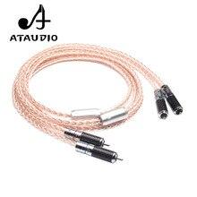 Ataudio 7n occ 실버 및 구리 hifi rca 케이블 하이 엔드 2rca 남성-남성 상호 연결 케이블 1 m 2 m 3 m