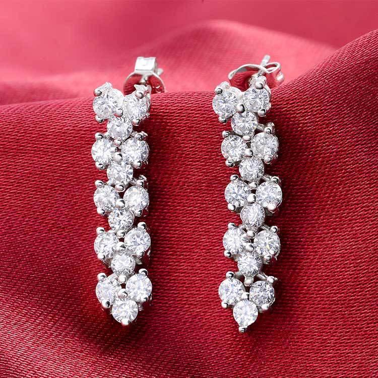 Moonso 925 Sterling Silver roma roman Earings long big earing for women 2020 new women wedding jewelry E684