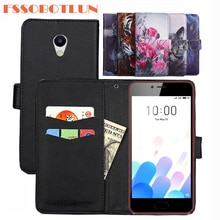 FSSOBOTLUN 9 Colors For Meizu M5c Case PU Leather Retro Flip Cover Shell Magnetic Fashion Wallet pho